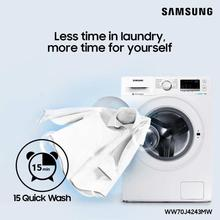 Samsung 7 kg Fully Automatic Front Load Washing Machine with Eco Bubble (WW70J4243MW/TL)