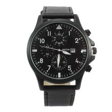 Black Round Dial Chronograph Watch For Men