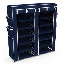 6 Layers Portable and Folding Shoe Rack - Double (120 x 30 x 108 cms)