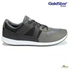 Grey/Black Casual Lace-Up Unisex Shoes - GS G103