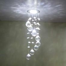 Crystal Chandelier Modern LED K9 Ceiling Light Fixture For Living Room Hotel Hallway