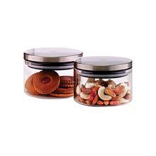 Borosil Classic Glass Jar 300 ml-2 Pcs