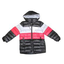 Multicolored Silicon Hooded Jacket For Boys