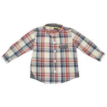 Blue/Red Checkered Shirt For Baby Boys