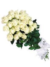 White rose Love Bunch - 26 Roses