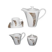 Royal Windsor Tea Pot Set, Gold-15 Pcs