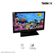 Technos 19″ LED TV W/Batt And Wallmount (Tempered Glass)