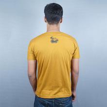 Rhino Mustard Yellow Printed T-Shirt for Men