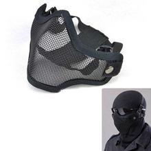 FashionieStore Face Mask Anti-fog Anti Respirator Anti Dust Haze Strike Metal Mesh Protective Mask Half Face Tactical Airsoft Military Mask BK2