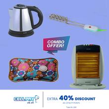 Winter Combo Of Baltra Recent Halogen Heater, Baltra fast electric kettle, Immersion Rod And Hot Water Bag