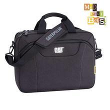 Cat Black Laptop Messenger Bag For Men (CAT83477-01BLK)