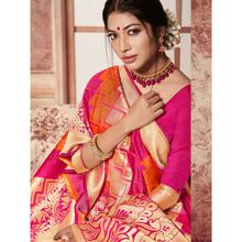 Stylee Lifestyle Orange Banarasi Silk Jacquard Saree (1775)