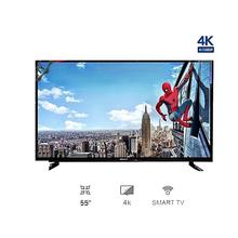 WEGA 55 Inch 4K Smart HI Sound DLED TV Double Glass - (Black)