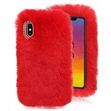 Plush Case for iPhone Xs Max 6.5 2018 Rabbit Fur Case,LCHDA iPhone