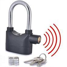 Black Siren Alarm Lock Anti Theft Security Padlock
