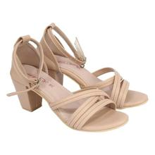 Pink Strappy Party Heeled Sandal For women