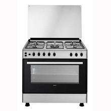 CG-15112 GX Cooking Range 4 Gas Hobs/1 Wok Burner Gas Oven - (Silver)