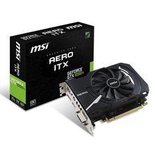 MSI NVIDIA GeForce GTX 1050 Ti 4GB GDRR5 128-bit HDCP Support DirectX 12 ITX OC Graphics Card (GTX 1050 TI AERO ITX 4G OC)