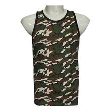 Camouflage Printed Tank Top For Men