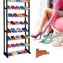 10 Tiers Shoe Rack 30 Pairs Adjustable Tower Shelf Storage Sturdy