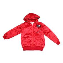 Red Silicon Hooded Jacket For Girls