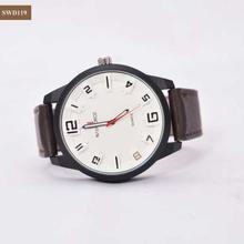 Full White Round Shape Dial Big Watch For Men