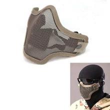 FashionieStore Face Mask Anti-fog Anti Respirator Anti Dust Haze Strike Metal Mesh Protective Mask Half Face Tactical Airsoft Military Mask Sa2
