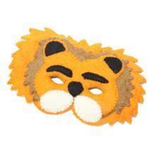 Yellow Felt Lion Mask For Kids