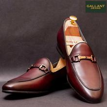 Gallant Gears Wine Red Slip on Formal Leather Shoes For Men - (MJDP30-11)