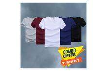 Hifashion Unisex Combo Cotton Round Neck T-shirts