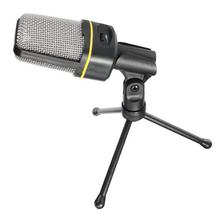 Multimedia Studio Wired Condenser Microphone With Tripod Stand-Black SF-920