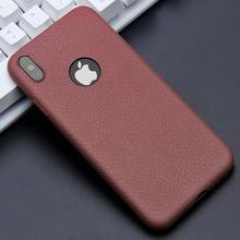 KISSCASE Ultra Thin Phone Cases For iPhone 6S 6 7 8 Plus XS Max Cover Leather Skin Soft TPU Silicone Case For iPhone XR X Shell