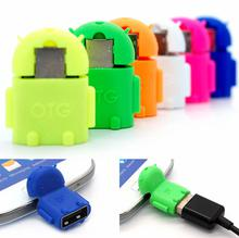Android Robot Micro USB 2.0 OTG Flash Disk Adapter