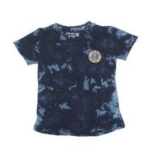 Navy Blue Camo Plain Cotton T-Shirt For Boys - (121246517910)