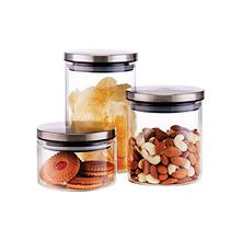 Borosil Classic Glass Jar -3 Pcs ( 300 ml + 600 ml + 900 ml)