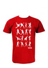 Wosa -FORTNITE ALL CHARACTERS Red Printed T-shirt For Men
