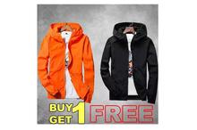 Hifashion- Buy 1 Get 1 Free-Lightweight Unisex Windproof Jacket For Summer (Black,Red)
