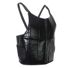 Black Solid 100% Windproof PU Leather Chest Guard