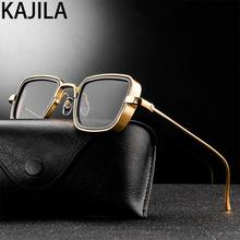 Vintage Steampunk Sunglasses Men Retro Metal Square Eyewear