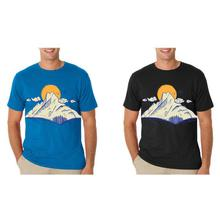 Pack Of 2 'Machhapuchhre' Printed T-Shirts For Men – Blue/Black