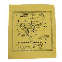 Everest Trek Map Printed Hanky (Unisex)
