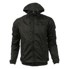 Black Solid Waterproof/Windproof Fleece Jacket For Men