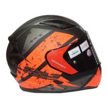 LS2 Black/Orange Rapid Full Matt Helmet