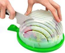 THE ORIGINAL Salad cutter bowl - Best Salad maker. Vegetable chopper, Cutter for Lettuce or Salad chopper
