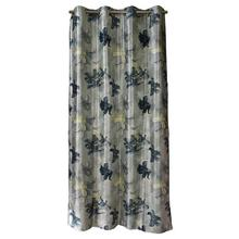 Digital Print Curtains With Grey Lily Floral Patterns
