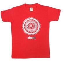 Red Mandala Print Tshirt For Boys