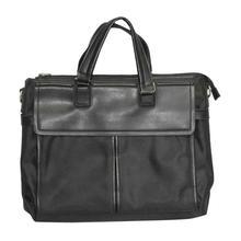 Black Solid Laptop Bag For Men
