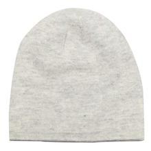 Light Grey Solid 100% Cashmere Cap