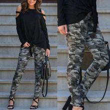 Women Camouflage Print Pants Women Sports Casual Pants