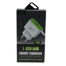 BN 1-USB 2.1A Smart Charger For Phone/Tablet - White